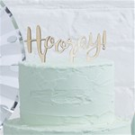 Pick & Mix Hooray Wooden Cake Topper - 12cm