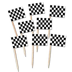 Catering Supplies Racing Flag Picks