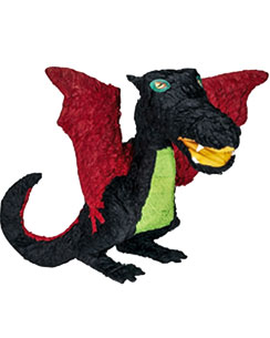 Black Dragon Piñata - 56cm tall