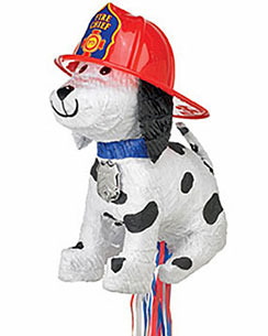 Fire Chief Dog Pull Piñata