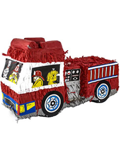 Fire Engine Piñata - 48cm long
