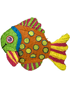 Tropical Fish Piñata - 53cm long