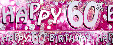 60th Birthday Banner - 2.7m