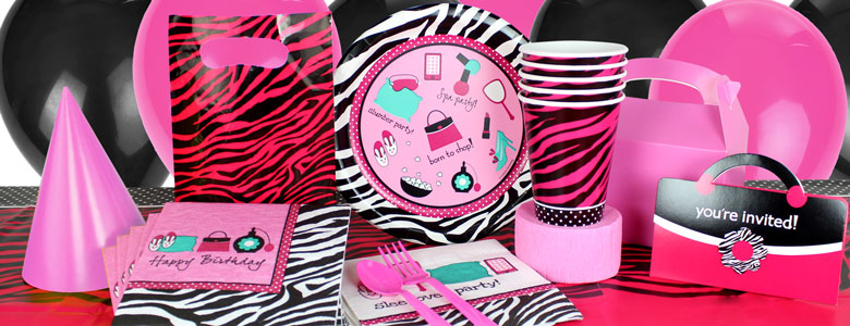 Pink Zebra Party Supplies Fashion Beauty Party Party