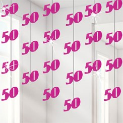 50th Pink String Decoration