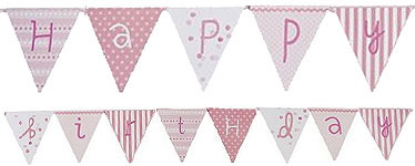 Pink n Mix Birthday Bunting - 3m