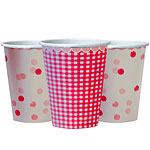 Pink n Mix Cups- 250ml Paper Party Cups