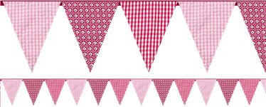 Pink n Mix Party Fabric Bunting - 3m
