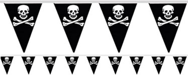 Pirate Triangular Bunting 6m (15 flags)