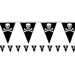 Pirate Flag Plastic Bunting - 6m
