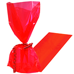 Apple Red Cellophane Party Bags