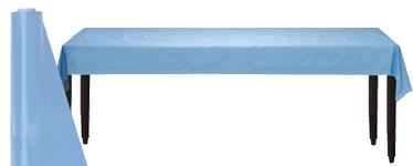 Baby Blue Table Roll - 30m Plastic