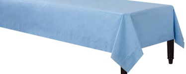 Baby Blue Tablecover - 3ply Paper - 1.4m x 2.8m