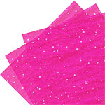 Pink Fuschia Tissue Paper with Sequins - 50cm