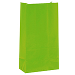 Lime Green Party Bags - Paper 24cm