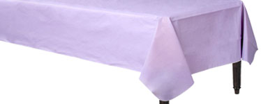 Lilac Flannel-Backed Vinyl Tablecover - 1.3m x 2.2m