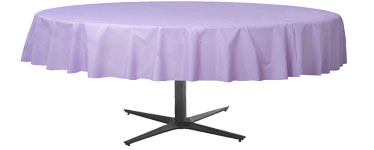 Lilac Round Tablecover - Plastic - 2.1m