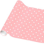 Baby Pink Small Dot Wrapping Paper - 4.8m