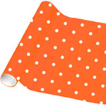 Orange Peel Polka Dot Wrapping Paper - 4.8m