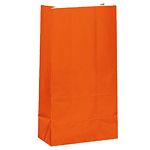 Orange Party Bags - Paper 24cm