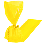 Yellow Large Cellophane Party Bags - 29cm
