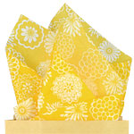 Yellow Chrysanthemum Tissue Paper - 50cm