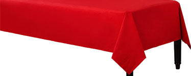 Red Tablecover - 3ply Paper - 1.4m x 2.8m