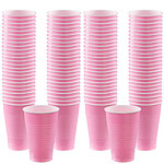 Baby Pink Cups - 355ml Plastic Party Cups