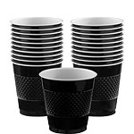 Black Cups - 266ml Plastic Party Cups