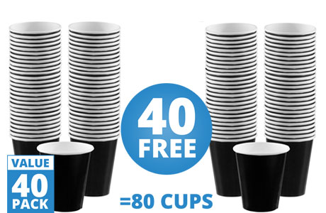 Black Cups - 340ml Paper Coffee Cups