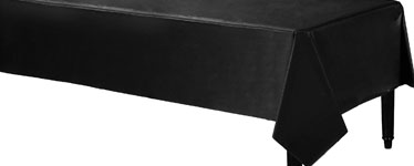 Black Plastic Tablecover - 1.4m x 2.8m