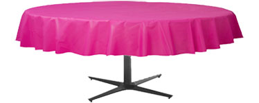 Hot Pink Round Tablecover – 86cm x 2.1m Plastic