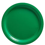 Green Plates - 23cm Plastic Party Plates