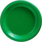 Green Serving Plates - 26.6cm Plastic