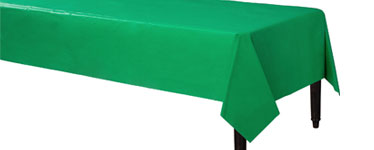 Green Plastic Tablecover - 1.4cm x 2.8cm