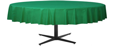 Green Round Tablecover - Plastic - 2.1m