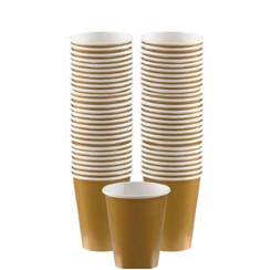 Gold Coffee Cups - 340ml Paper Cups