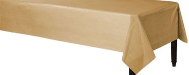 Gold Plastic Tablecover - 1.4m x 2.8cm