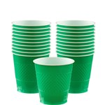 Green Cups - 266ml Plastic Party Cups