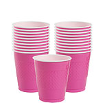 Hot Pink Cups - 266ml Plastic Party Cups