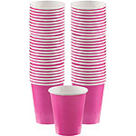 Hot Pink Cups - 340ml Paper Party Cups
