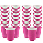 Hot Pink Coffee Cups - 340ml Paper Party Cups