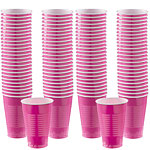 Hot Pink Cups - 355ml Plastic