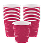 Magenta Cups - 355ml Plastic Party Cups