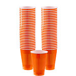 Orange Cups - 355ml Plastic Party Cups