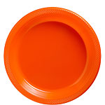 Orange Plastic Plates - 23cm