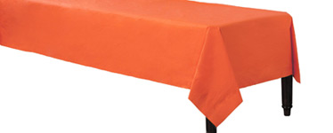 Orange Tablecover - 3ply Paper - 1.4m x 2.8m