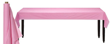 Baby Pink Table Roll - 30m Plastic