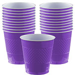 Purple Cups - 473ml Plastic Party Cups