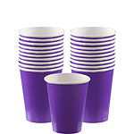 Purple Cups - 266ml Paper Party Cups